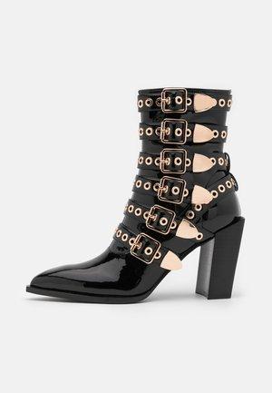 IGNATIUS - High heeled ankle boots - black