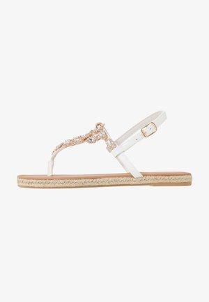 LAILAH - T-bar sandals - white