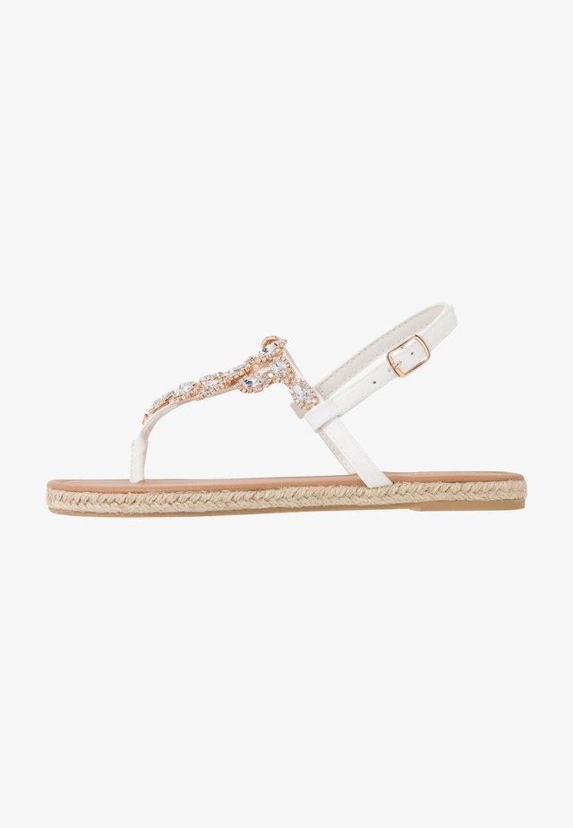 LAILAH - Flip Flops - white