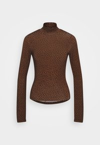 DORSIA - Long sleeved top - brown/black