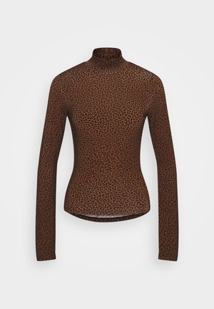 DORSIA - T-shirt à manches longues - brown/black