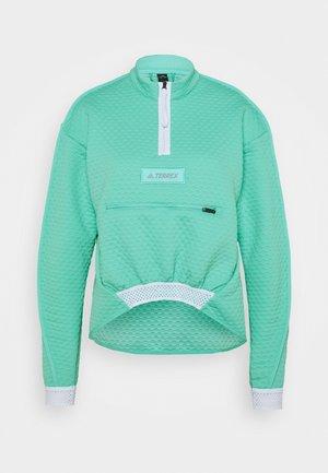 HIKE HALFZ - Fleece jumper - mint