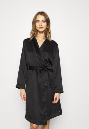 ROBE LONG - Albornoz - black
