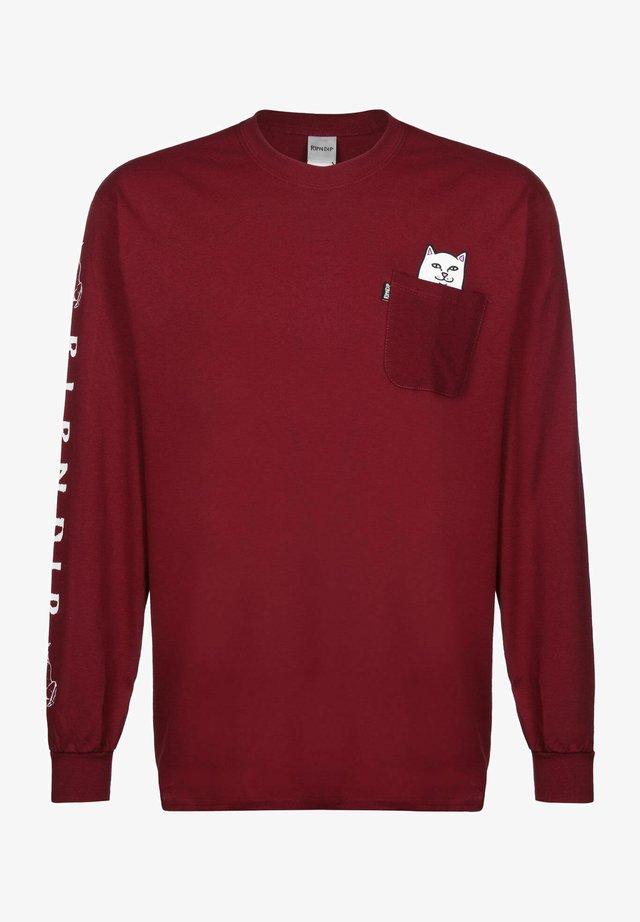 LORD NERMAL - Sweater - burgundy