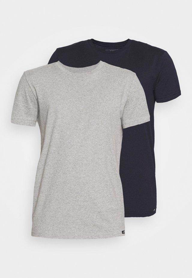 TWIN CREW 2 PACK - Basic T-shirt - grey/navy