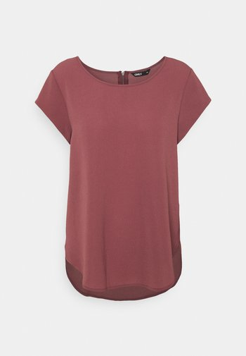 ONLVIC S/S SOLID NOOS WVN - Blouse - rose brown