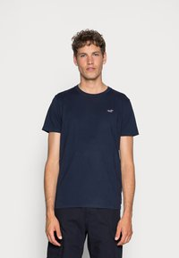 Hollister Co. - CREW 3 PACK - T-shirts basic - navy/burgundy/grey - 1