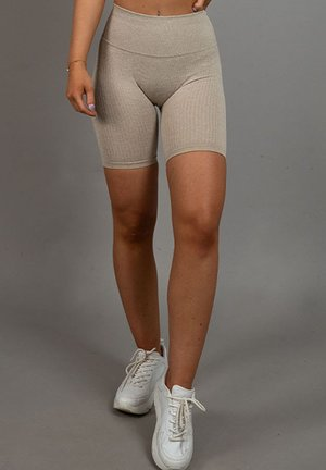 RIBBED - Shorts - beige