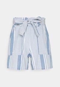 VMAKELA CHAMBRAY PAPERBAG  - Shorts - light blue denim/white
