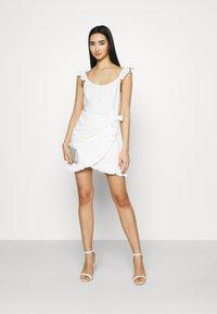 NA-KD - DETAIL DRESS - Cocktail dress / Party dress - white - 1