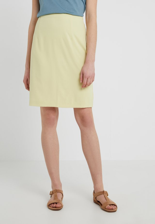 HIGH WAIST SKIRT - Pouzdrová sukně - wax