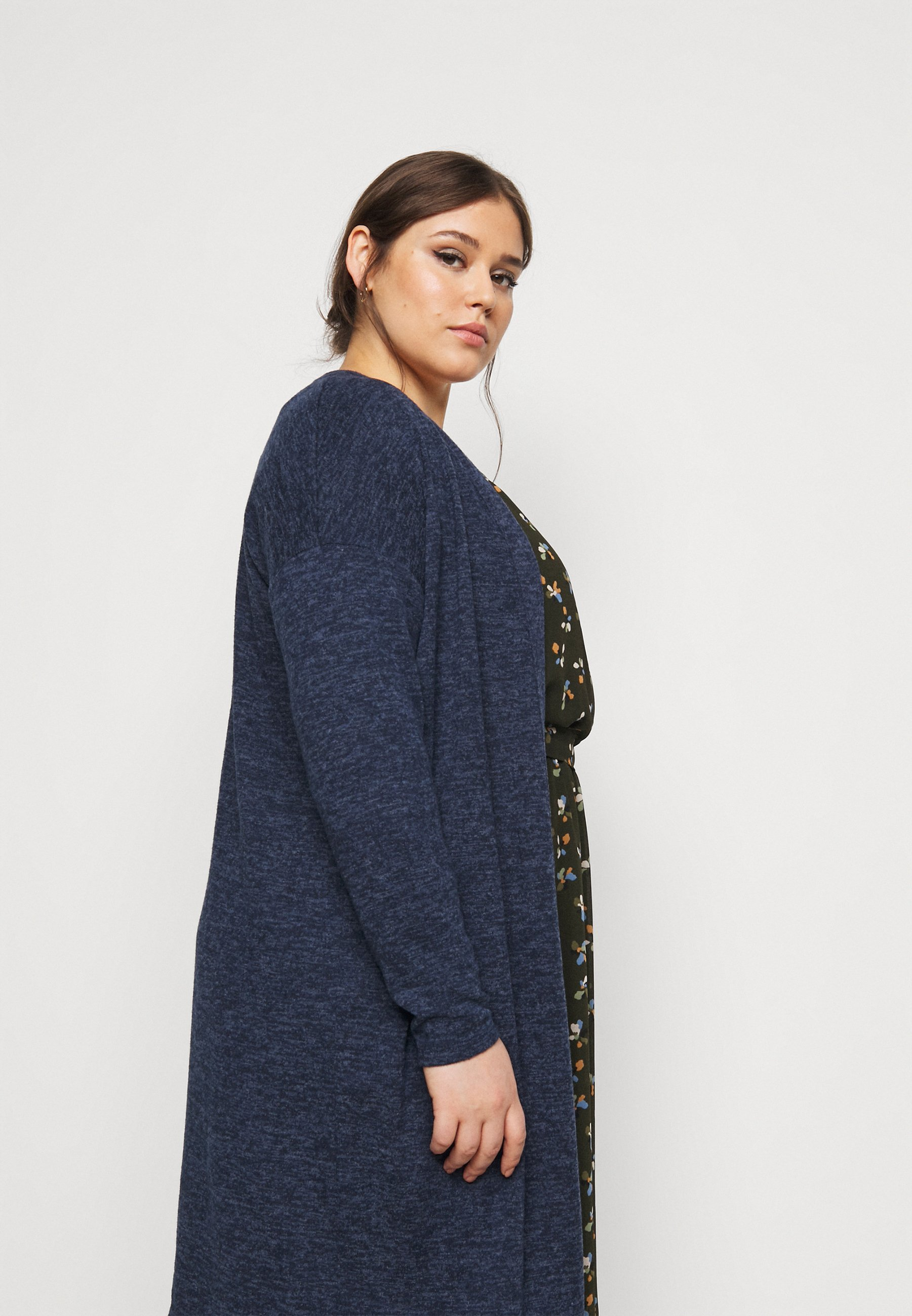 Evans Soft Touch Cardigan - Blue/blå