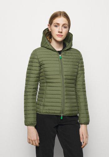 ELLA HOODED JACKET - Vinterjakke - cactus green