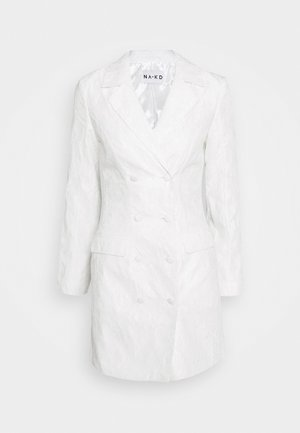 ZALANDO X NA-KD BLAZER DRESS - Vestido de cóctel - off white
