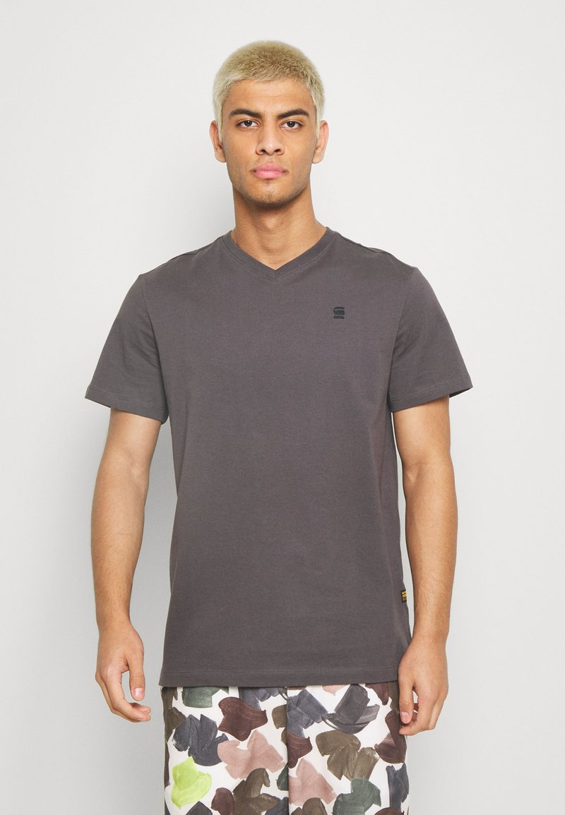 G-Star - BASE-S V T S\S - T-shirt basic - lt shadow