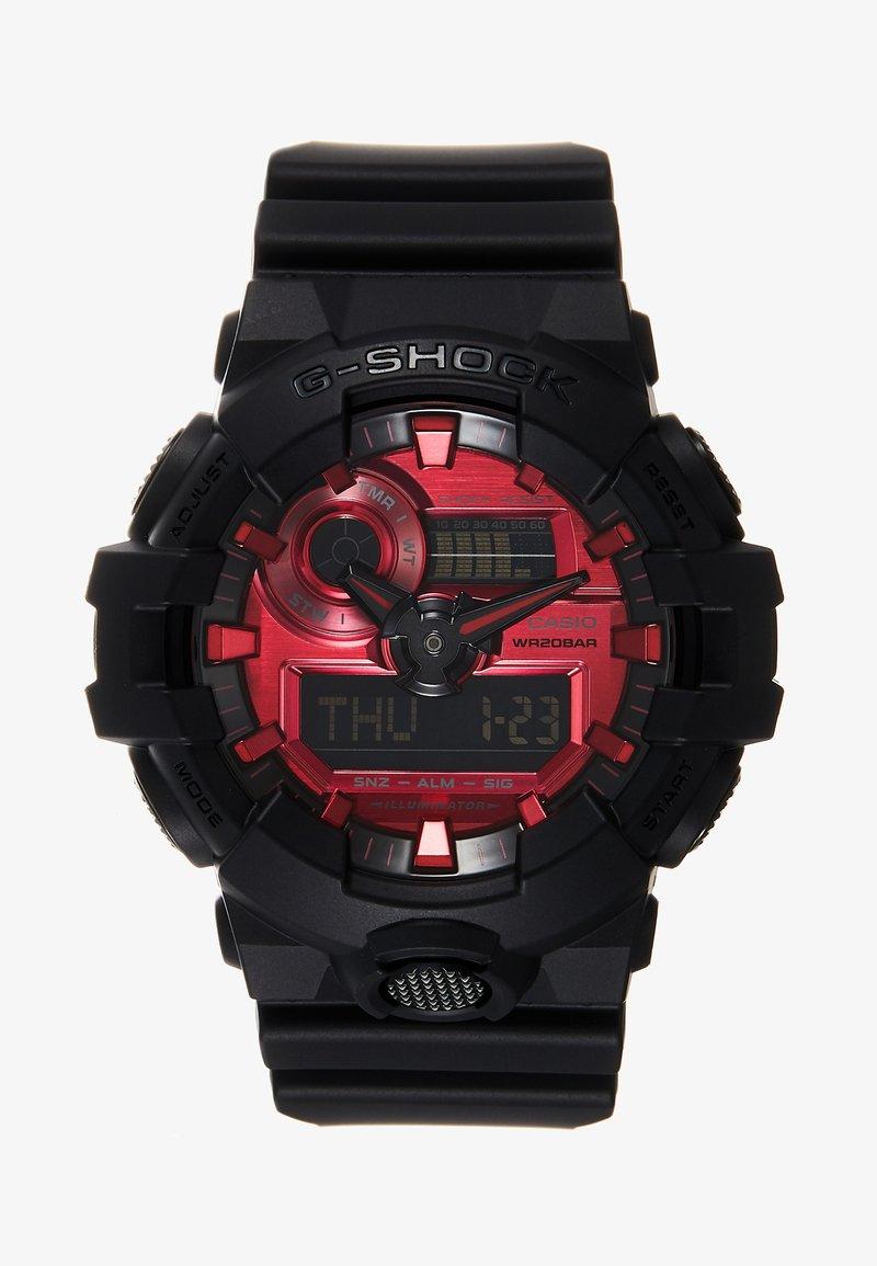 G-SHOCK - GA-700 METALLIC - Digitaal horloge - black/red