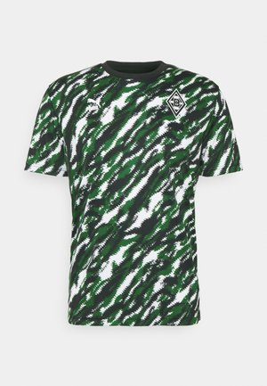 BORUSSIA MÖNCHENGLADBACH ICONIC GRAPHIC TEE - Equipación de clubes - black/white/amazon green