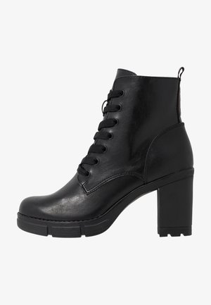 BOOTS - Platåstøvletter - black antic