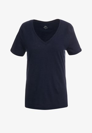 VINTAGE V NECK TEE - Basic T-shirt - navy