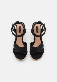 ONLY SHOES - ONLAMELIA LIFE STITCH  - Platform sandals - black - 5