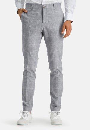Trousers - cobalt/white
