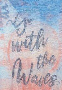 Cecil - MIT BURN-OUT EFFEKT - Print T-shirt - blau - 4