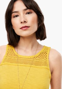 s.Oliver - MIT SPITZEN-PASSE - Top - yellow - 4