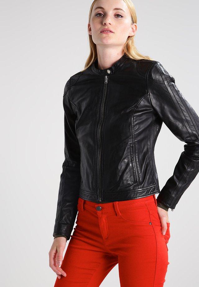 CAROL  - Leather jacket - black