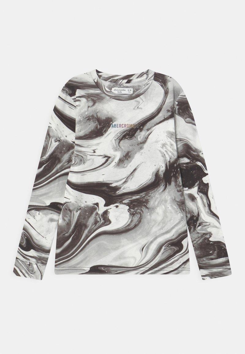 Abercrombie & Fitch - NOVELTY PATTERN - Langærmede T-shirts - black pattern