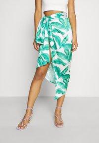 Never Fully Dressed - MULTI USE BANANA LEAF JASPRE - Pencil skirt - green - 4