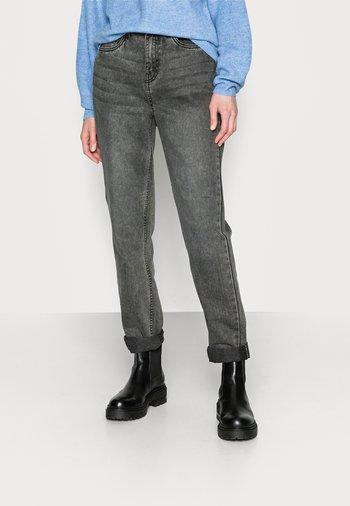 NMISABEL MOM - Jeans straight leg - grey denim