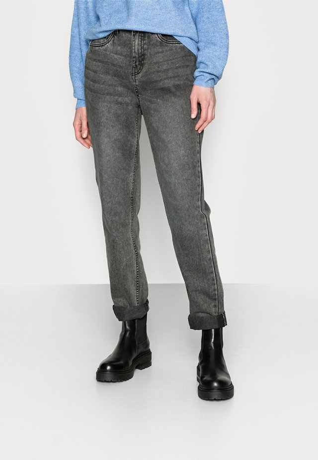NMISABEL MOM - Straight leg -farkut - grey denim