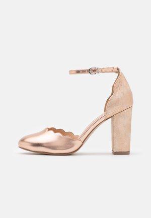 WHISPER - Tacones - rose gold metallic