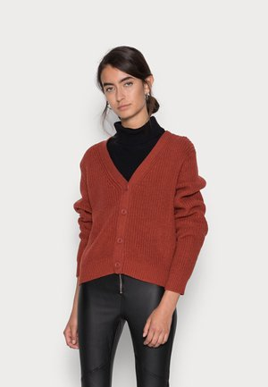 ONLSOOKIE MELTON LIFE - Cardigan - red ochre melange