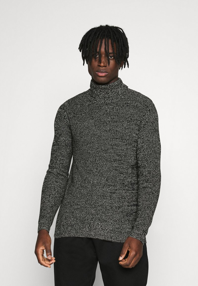 Redefined Rebel - OLIVER ROLL NECK - Jumper - black