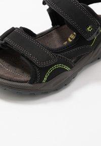 Lurchi - MANNI - Chodecké sandály - black - 5