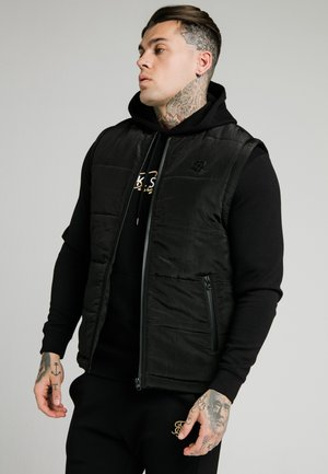SIKSILK PADDED GILET - Bodywarmer - black