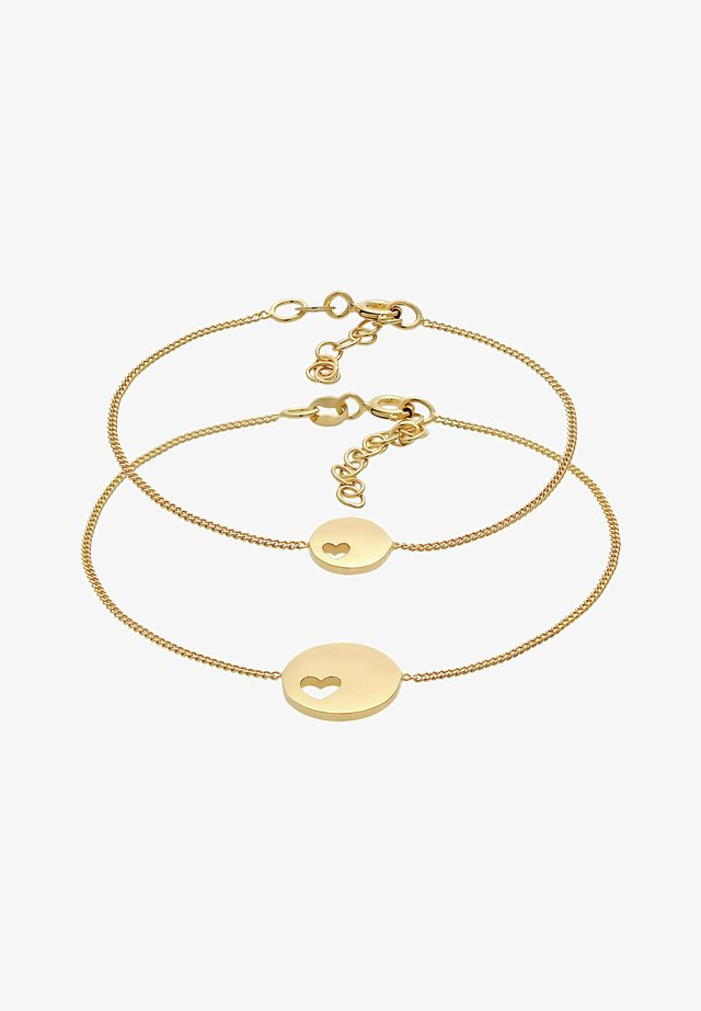 HEART MOTHER CHILD  - Bracciale - gold