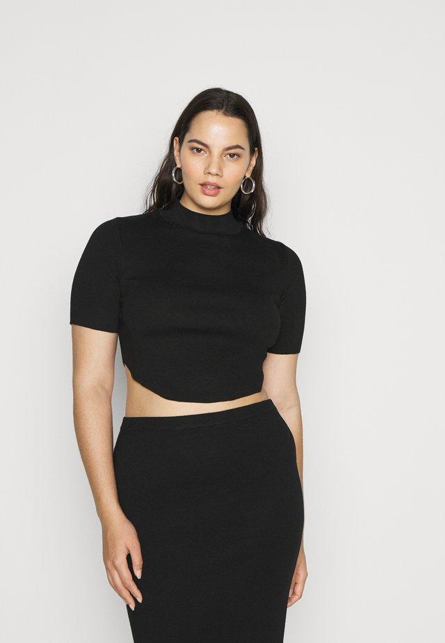 CURVED HEM  - T-shirt print - black