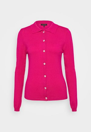 COLLARED CARDIGAN - Cardigan - raspberry