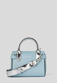 KARL LAGERFELD - RADIO MINI  - Handbag - light blue/silver - 1
