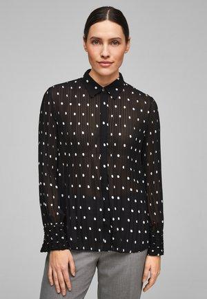 MIT PRINT - Button-down blouse - black aop dots
