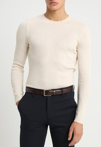 Calvin Klein - FORMAL BELT - Belt business - brown - 1