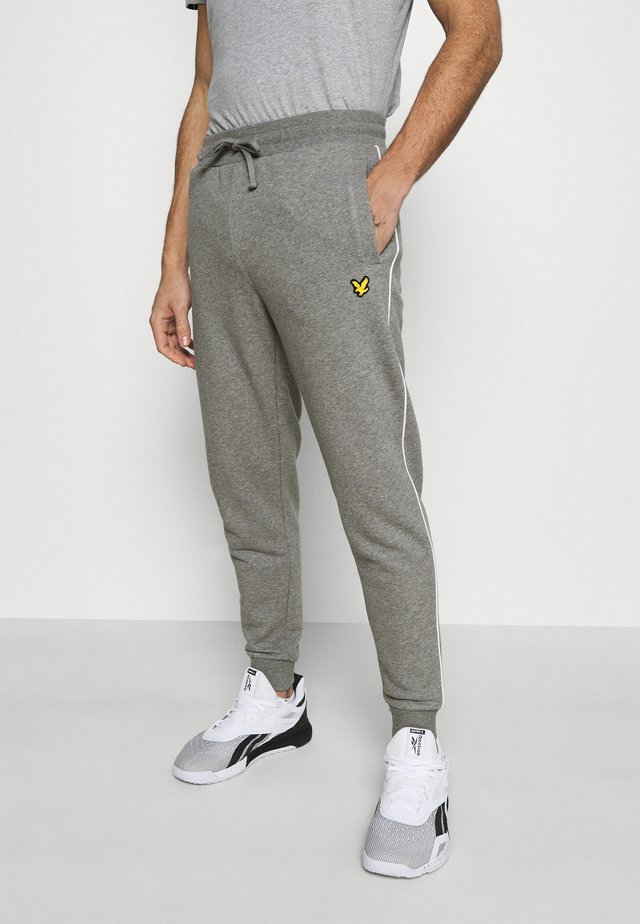 WITH CONTRAST PIPING - Pantalon de survêtement - mid grey marl