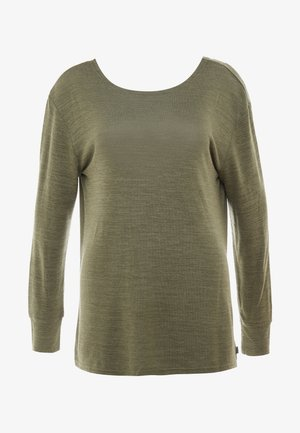 BACK TWIST LONG SLEEVE - Strikkegenser - khaki