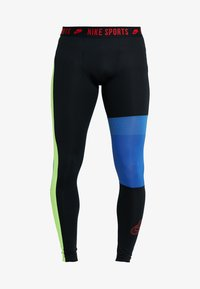 Nike Performance - Tights - black/game royal/electric green/habanero red - 4