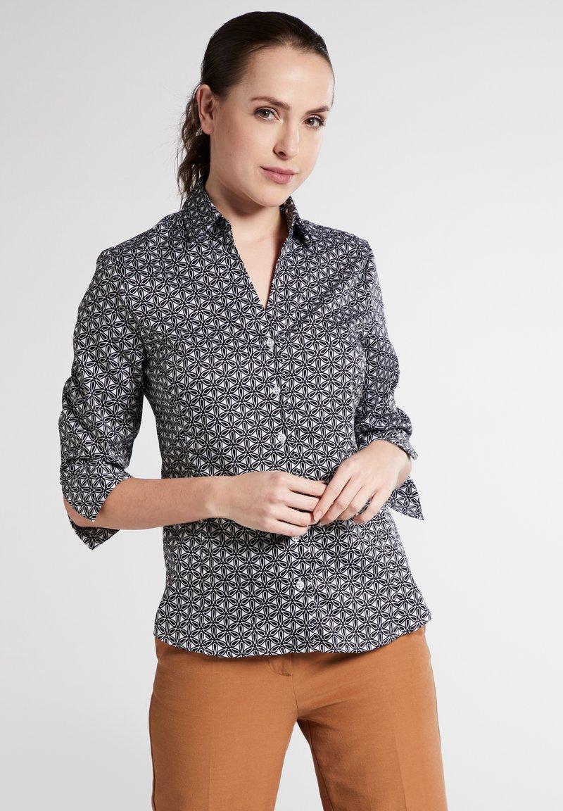 Eterna - Button-down blouse - black/white