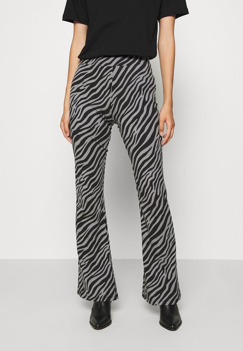 ONLY - ONLLIVE LOVE FLARED PANTS - Leggings - Trousers - dark grey