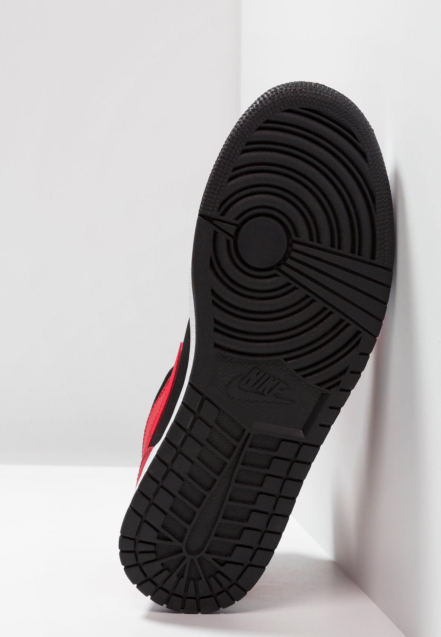 AIR JORDAN 1 MID - Baskets montantes - black/white/gym red