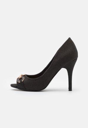 CHURCH - Peep toes - black